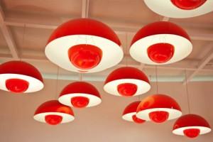 lamparas rojas